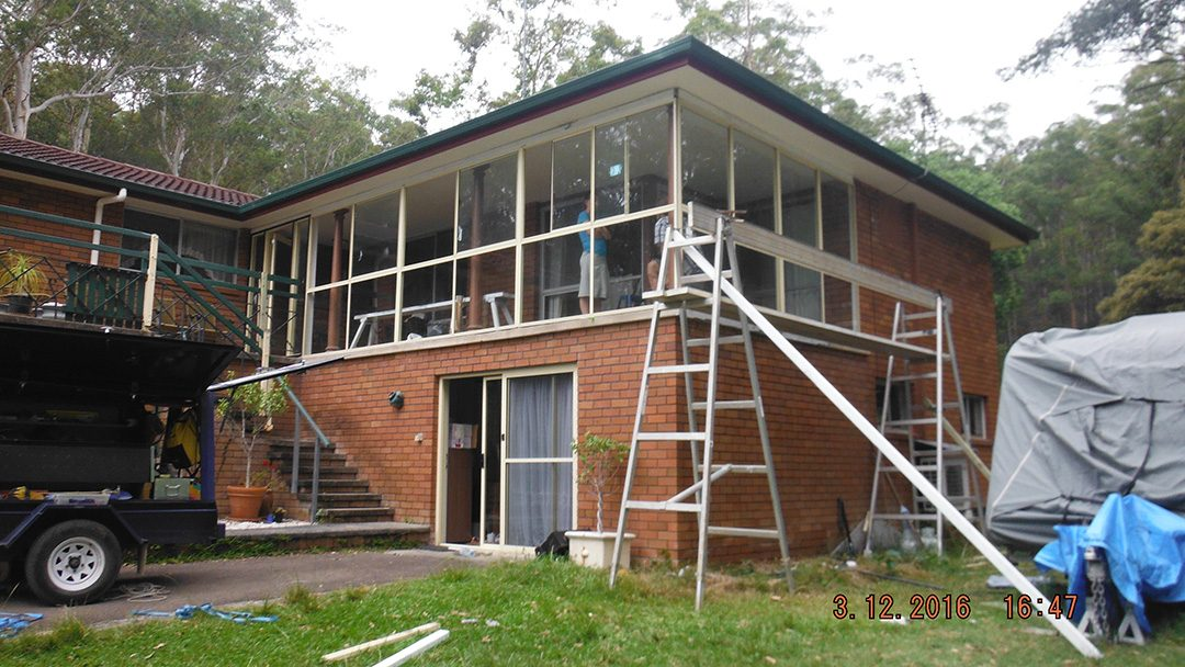 A simple extension to enclose your patio at Cooranbong NSW